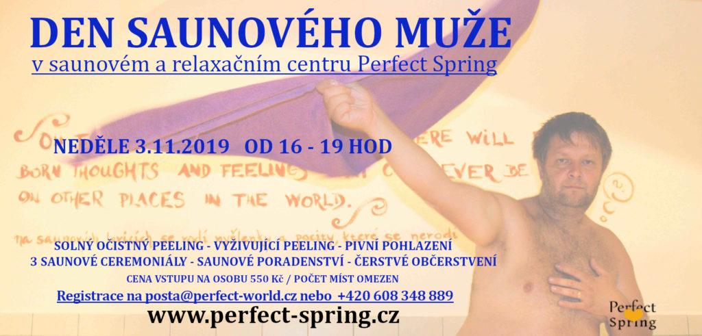 Sauna Plzeň - Perfect Spring - Den saunového muže